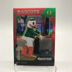 2019 Panini Prizm Mascots Red The Duck